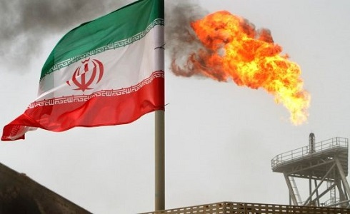 iran flag oil