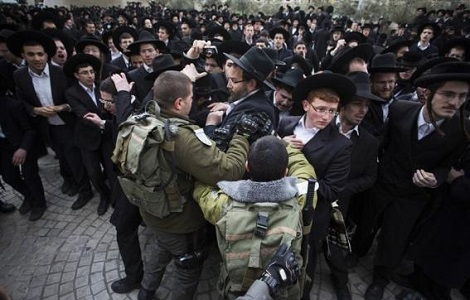 israel ultra orthodox protest conscription law