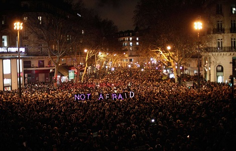 france charlie hebdo not afraid