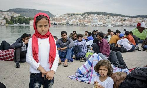 refugees lesvos island june 2015